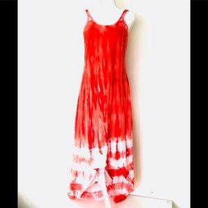 Athleta Maxi Sun Dress Built In Bra Hi Low M